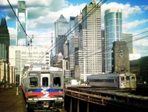 oncoming septa regional rail train