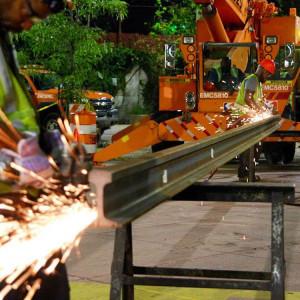 construction - grinding rail