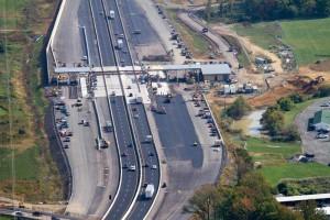 neshaminy toll plaza looking East
