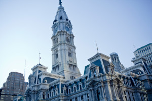 philadelphia city hall view up