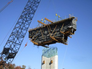 Turnpike Construction with Crane